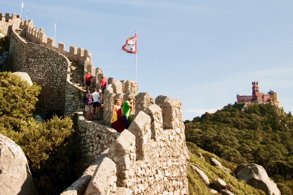 Castle of the Moors and Pena Palace in Sintra