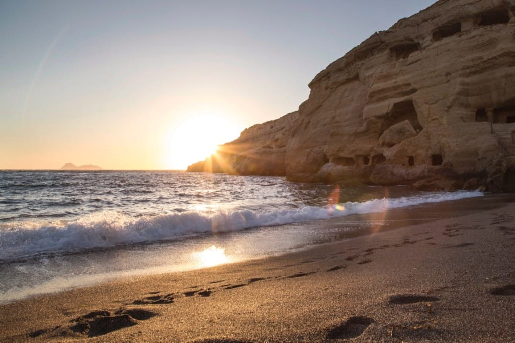 Matala Beach Caves Best beaches in Crete