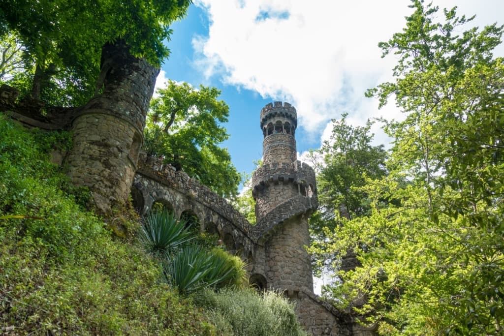 Sintra Guide Regaleira Tower Entrance to Ledas Cave