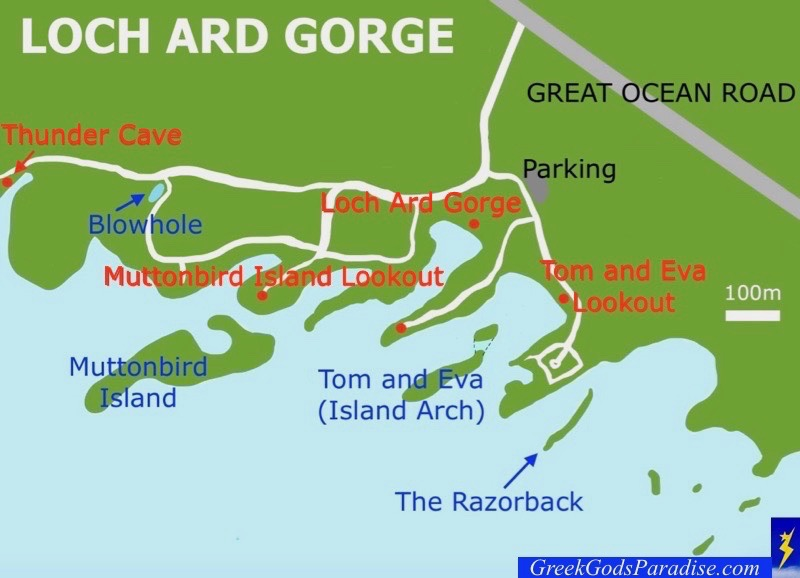 Loch Ard Gorge Map Great Ocean Road Victoria