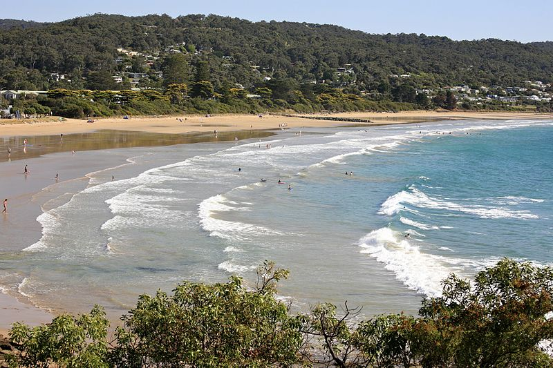 Lorne Beach Town in Victoria