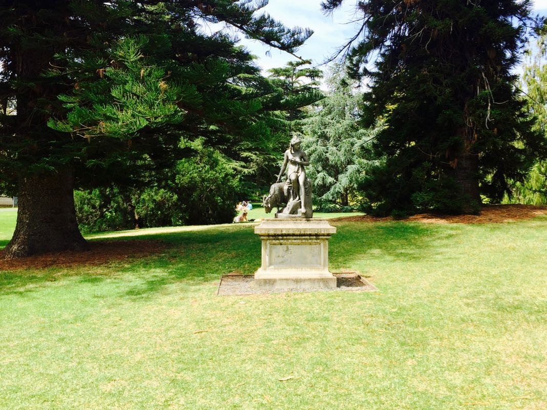 Adelaide Botanic Gardens Amalthea Goat statue