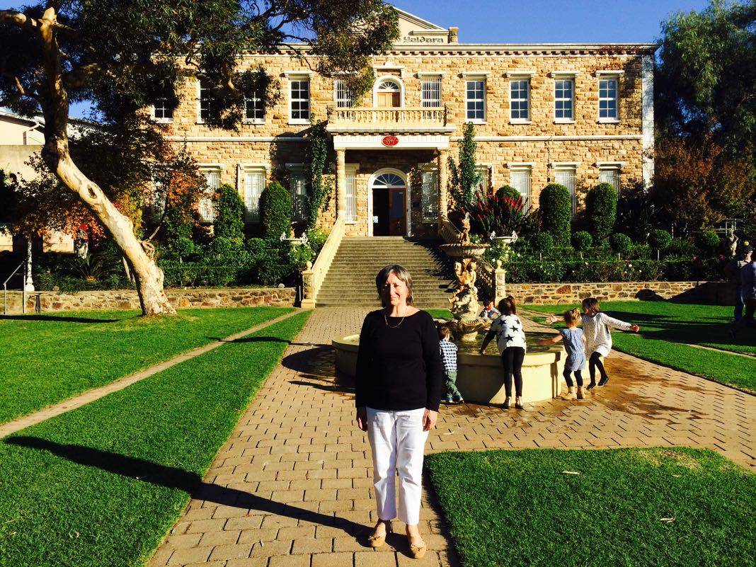 Barossa Valley Winery Chateau and fountain