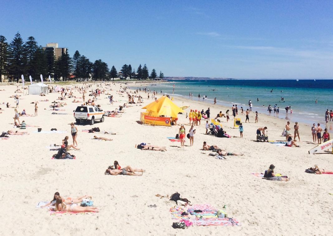 Hot Summer Day Glenelg Beach