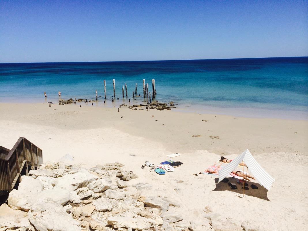 Port Willunga Beach Ruined Jetty Adelaide