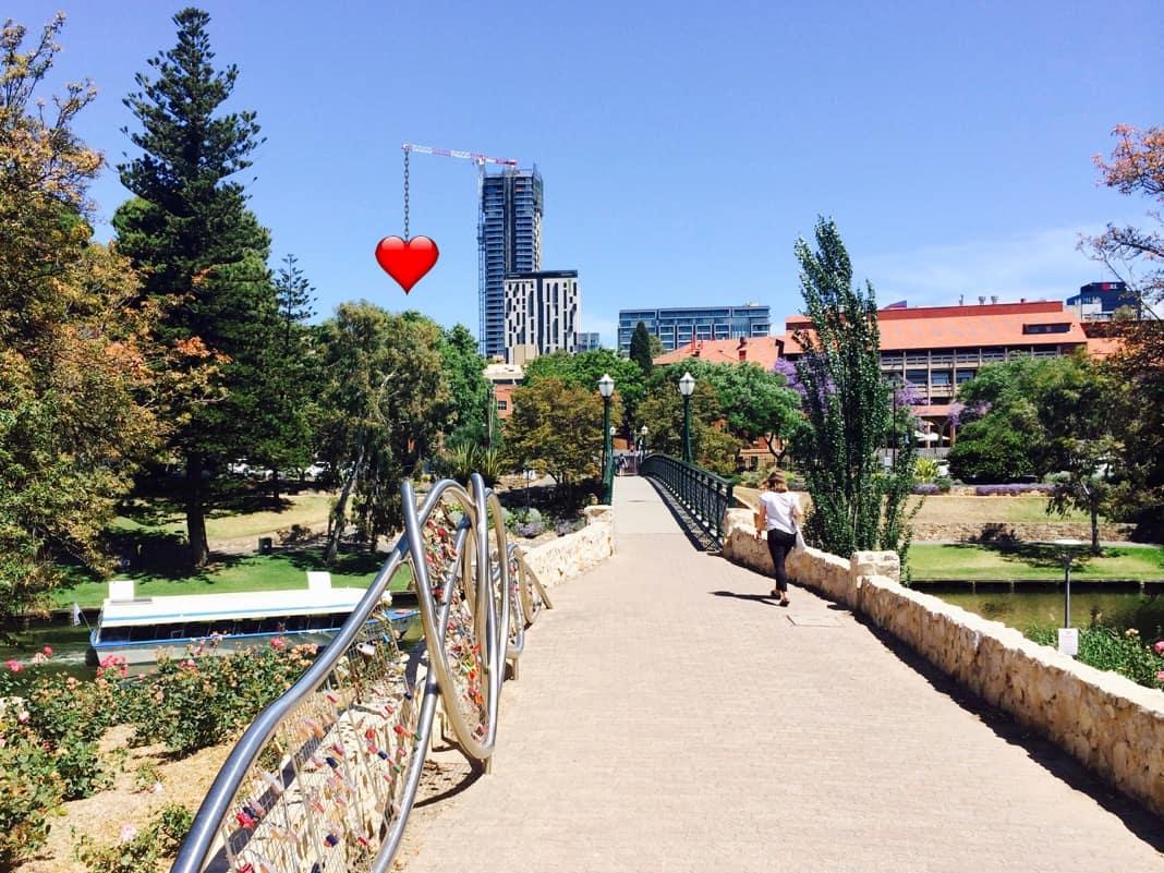 The Adelaide University Footbridge