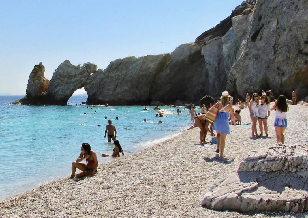 Lalaria beach Skiathos Greek Island