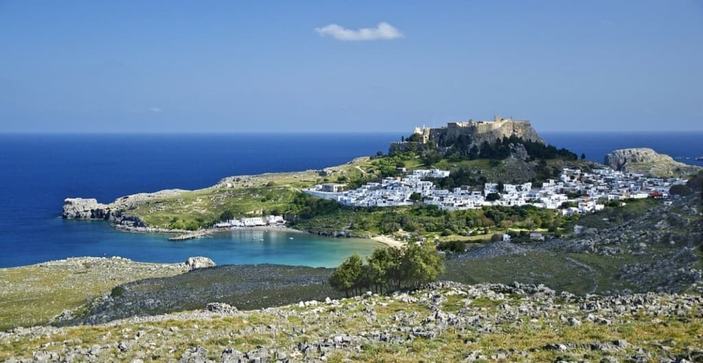 Lindos Beach Rhodes Best Beaches in the Greek Islands