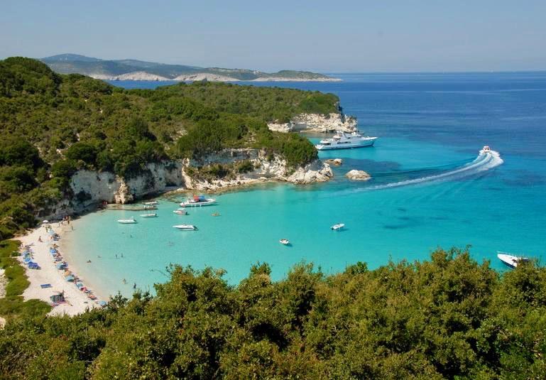 Voutoumi beach Antipaxos Island Greece