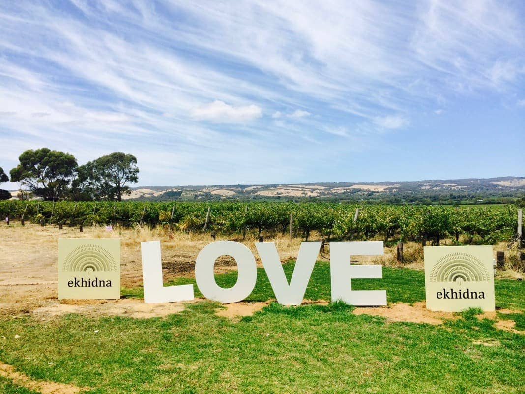 Ekhidna Wines Love Sign