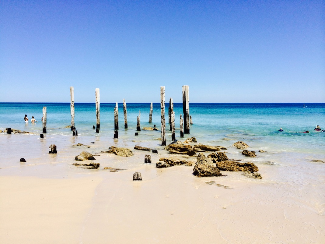 Port Willunga Jetty Ruined Pylons