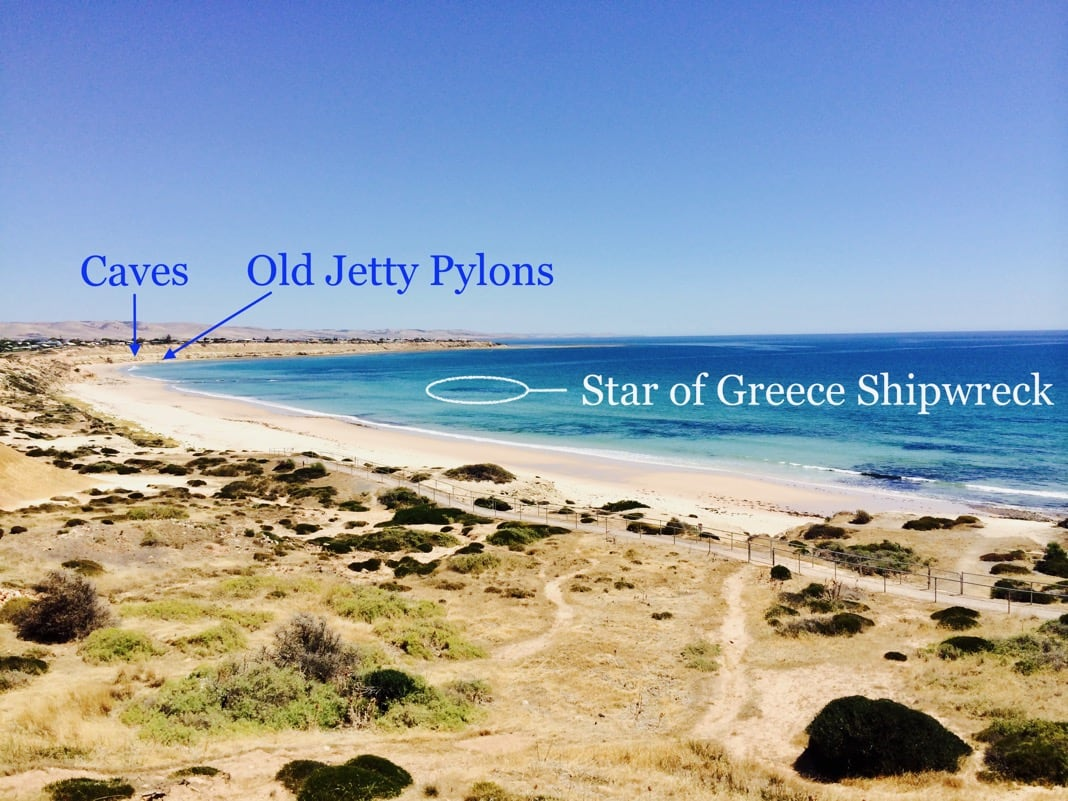 Star of Greece Shipwreck Location Port Willunga