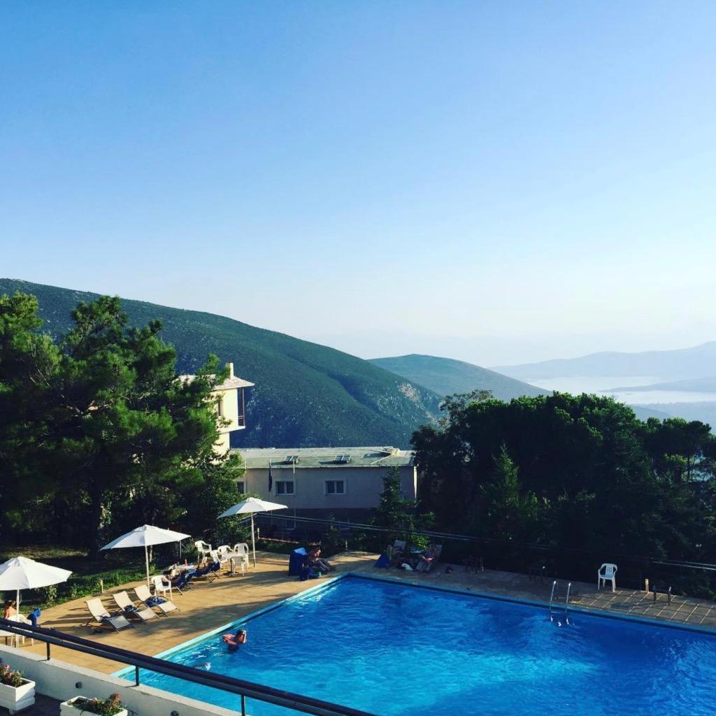 Hotel pool in Delphi