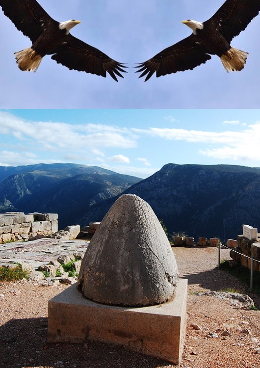 Omphalos Stone or Baetylus Delphi The Centre of the world