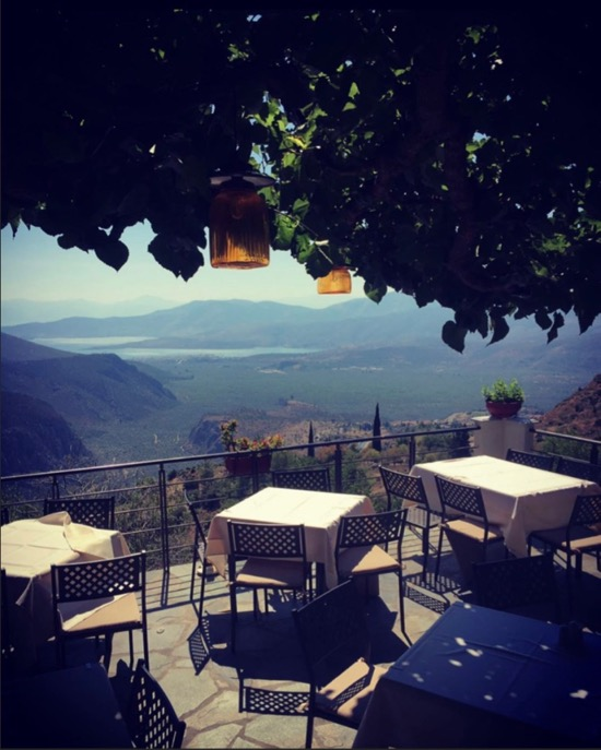 Restaurant with the best view in Delphi