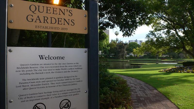 Queens Gardens Perth Australia