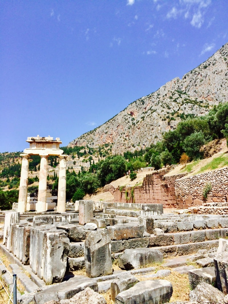 Tholos of Delphi at the Sanctuary of Athena Pronaia