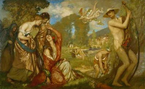 Art Gallery of Western Australia Painting A feather from the cap of Cupid by Rupert Bunny