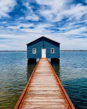 Crawley Edge Boatshed on the banks of the Swan River Perth