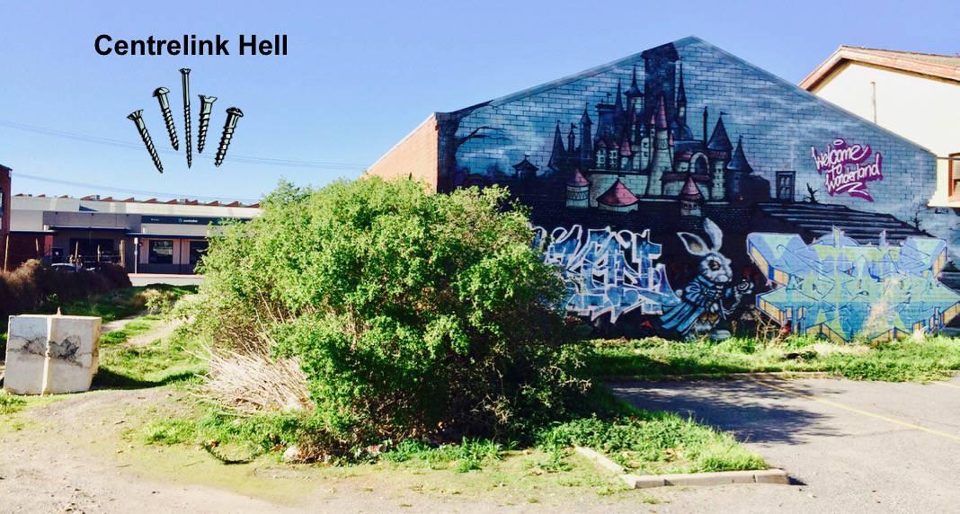 Alice in Wonderland Mural Port Adelaide South Australia