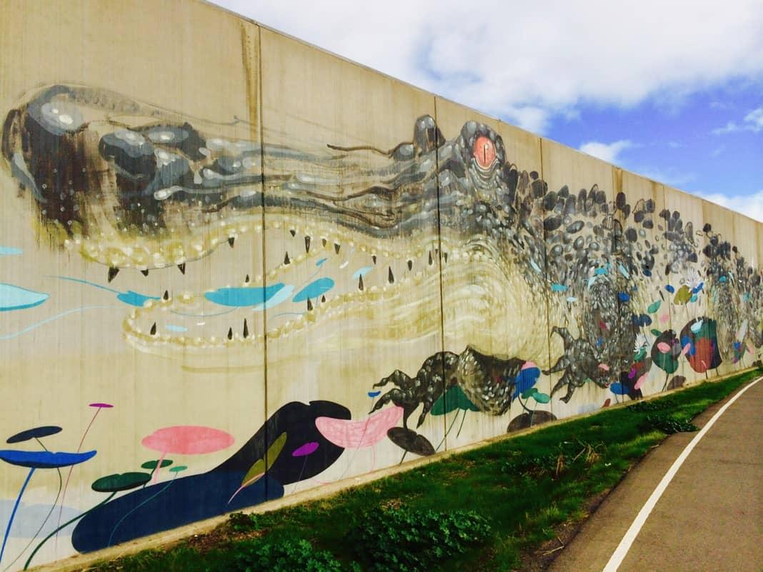 Colourful Crocodile Mural Wonderwall Port Adelaide