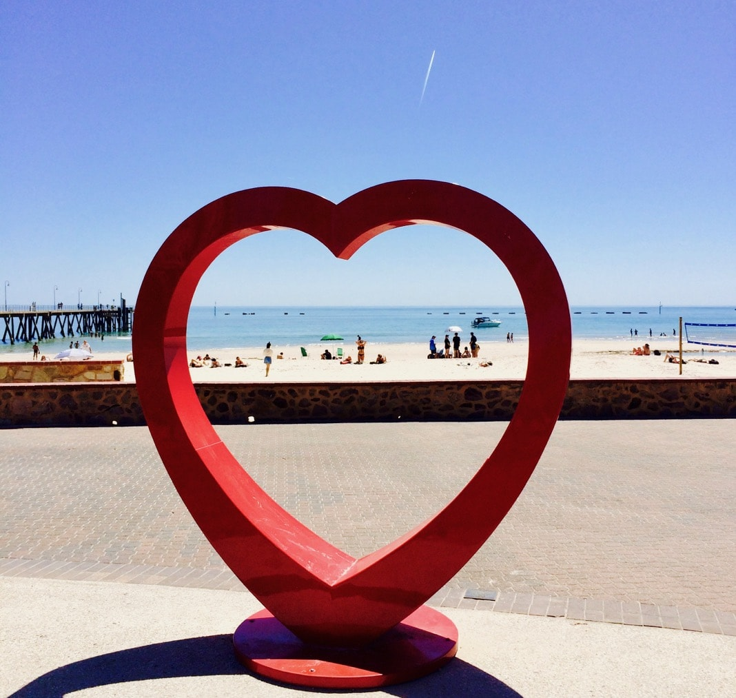 Glenelg Beach Love Heart Sculpture