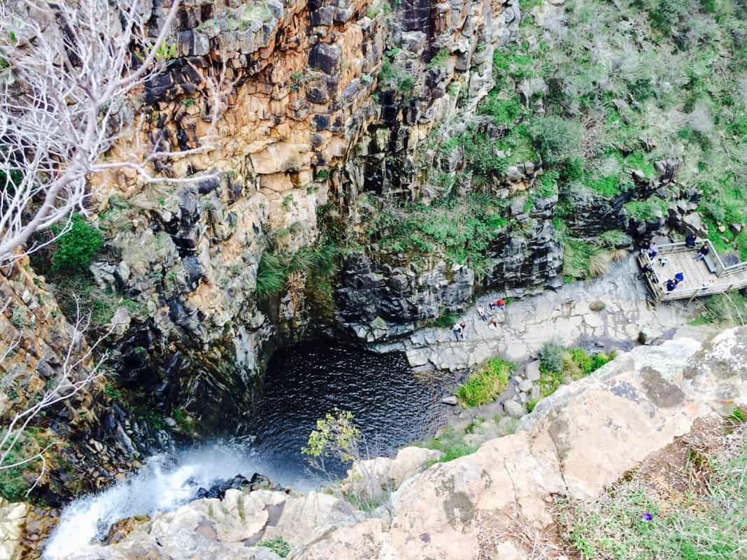 Looking down from First Morialta Falls