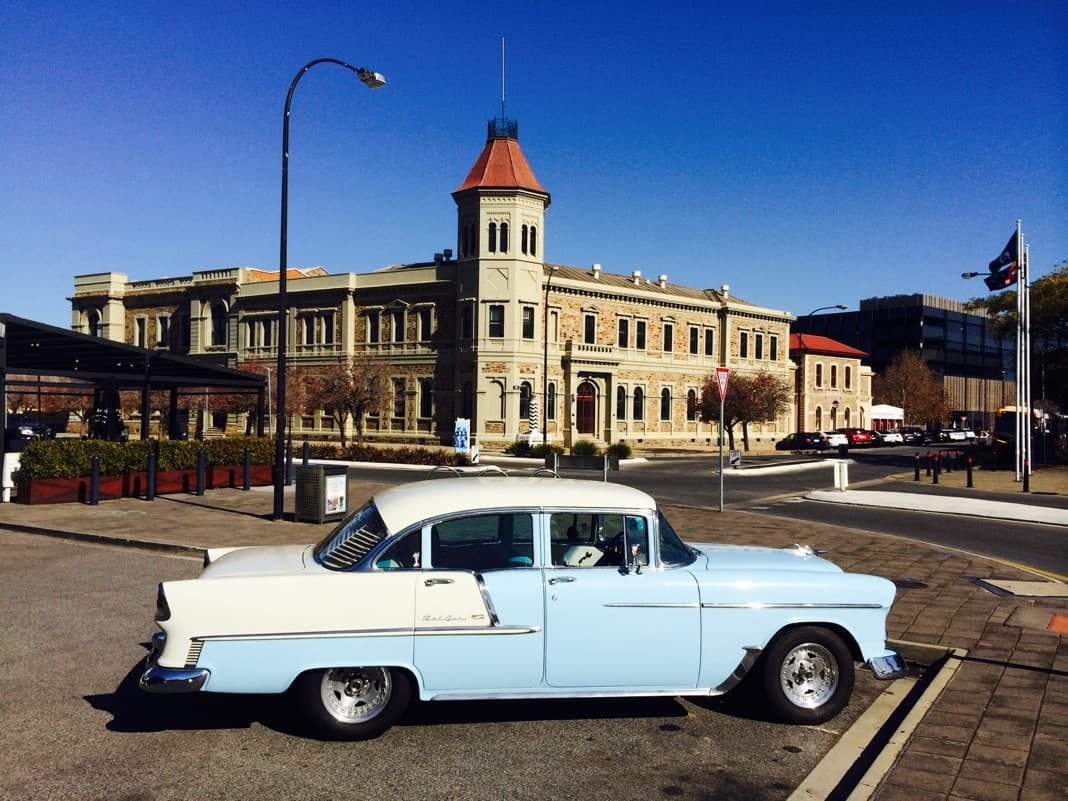 Old classic car in Port Adelaide