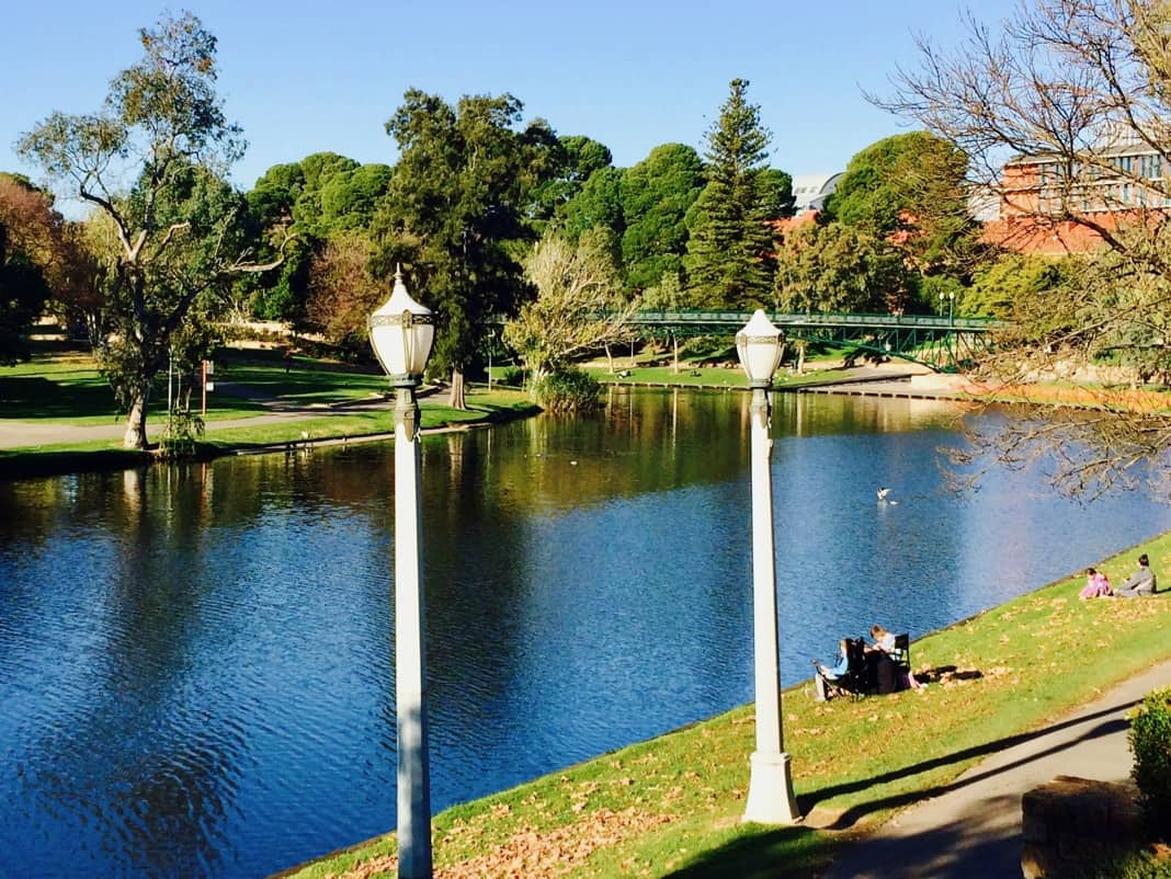 River Torrens Linear Park Trail near Adelaide University