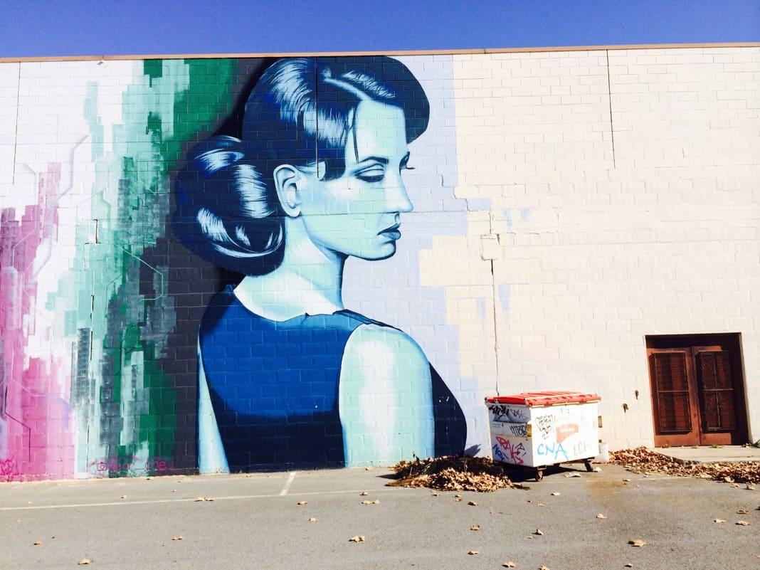 Street Art Mural Port Adelaide Lady