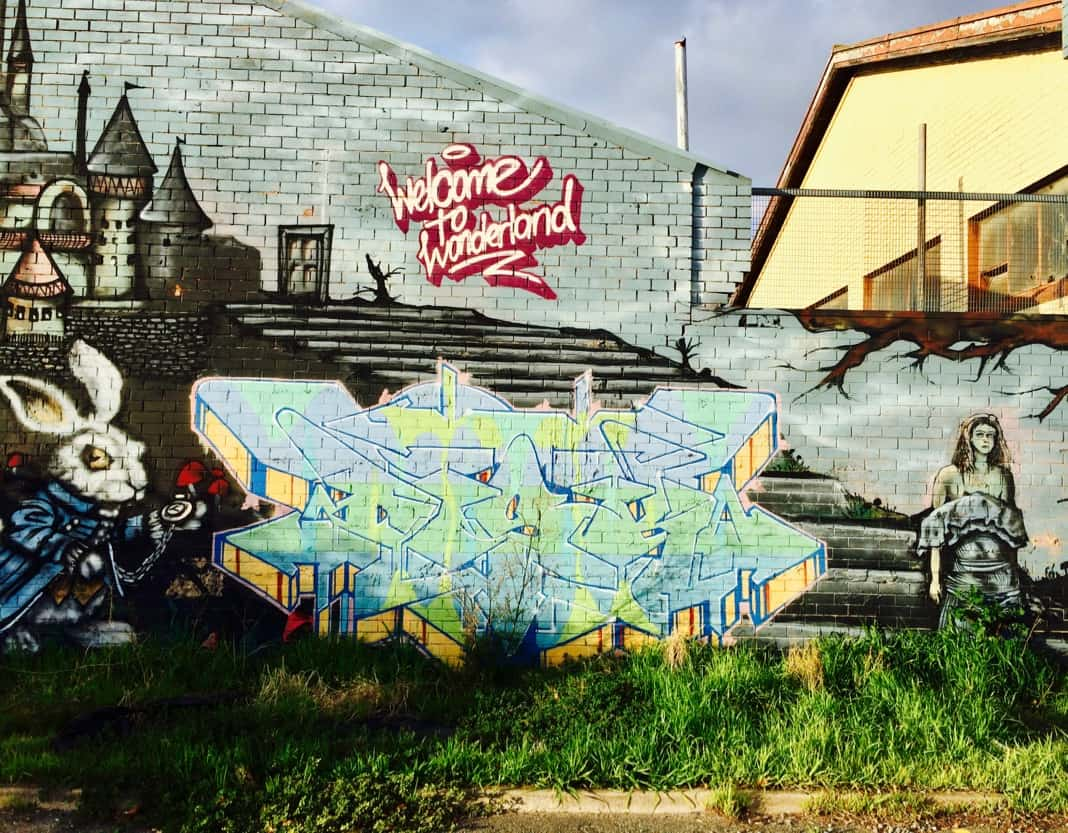 Welcome to Wonderland Mural Port Adelaide Street Art