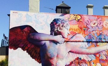 Wonderwall Street Art in Port Adelaide Cupid Mural
