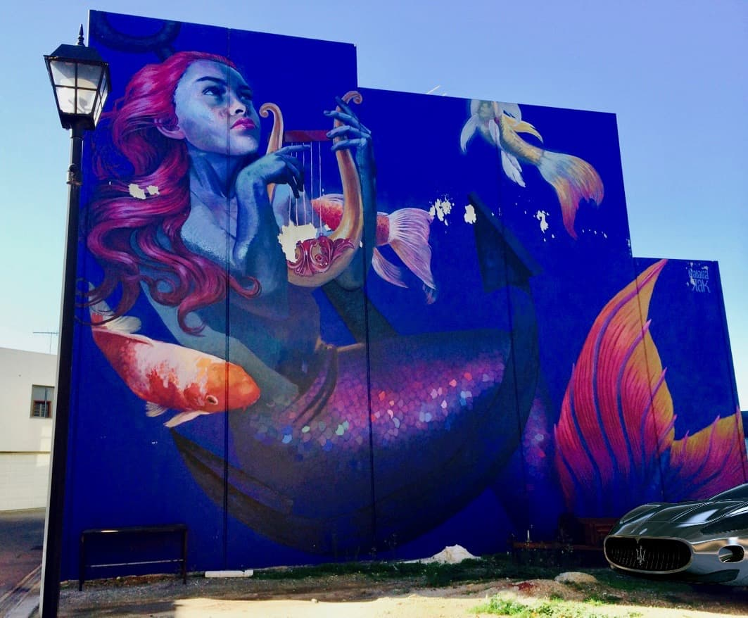 Wonderwalls Port Adelaide Mermaid Muse Mural Karatta Dock