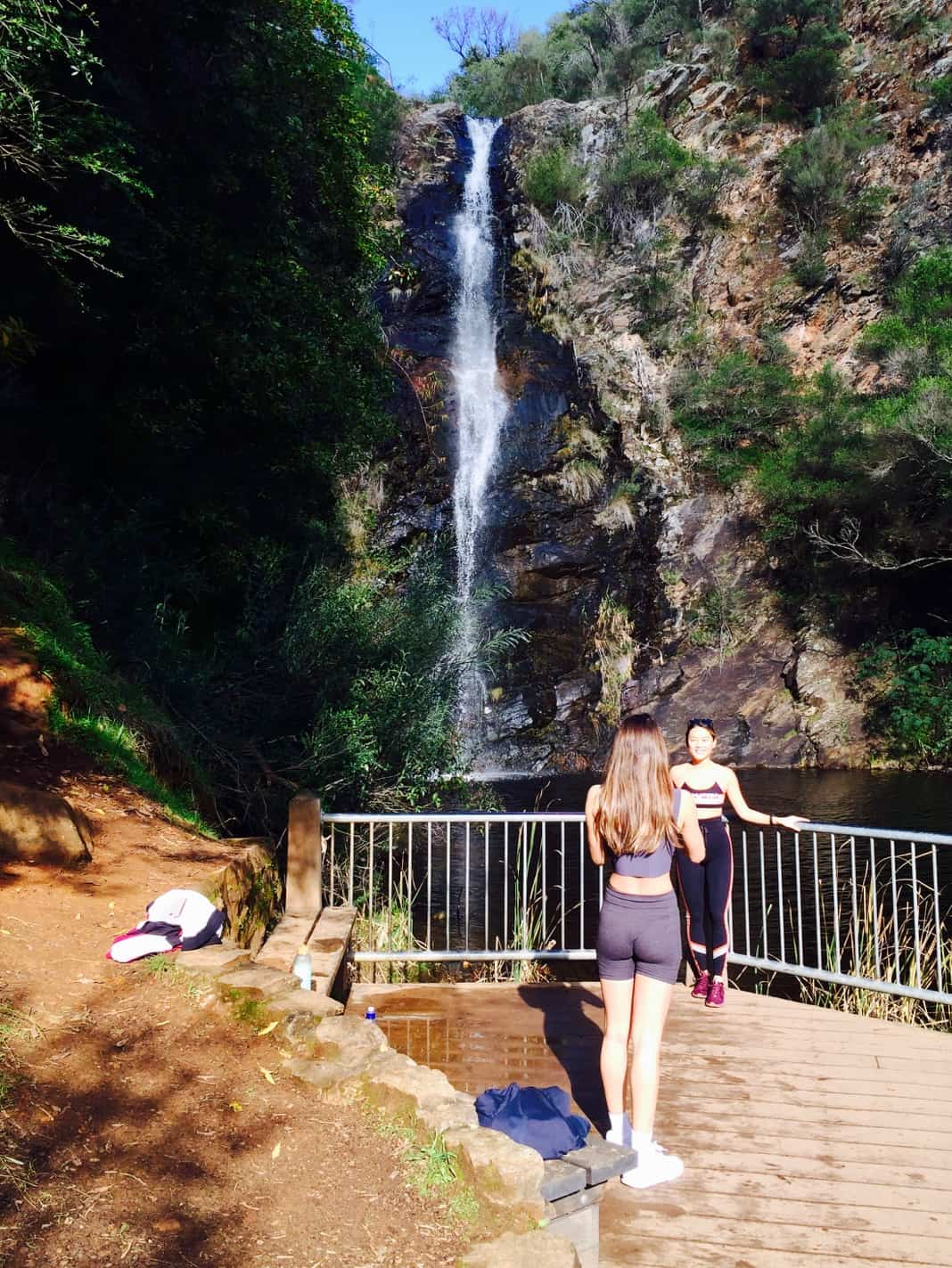 Hikers posing at Waterfall Gully