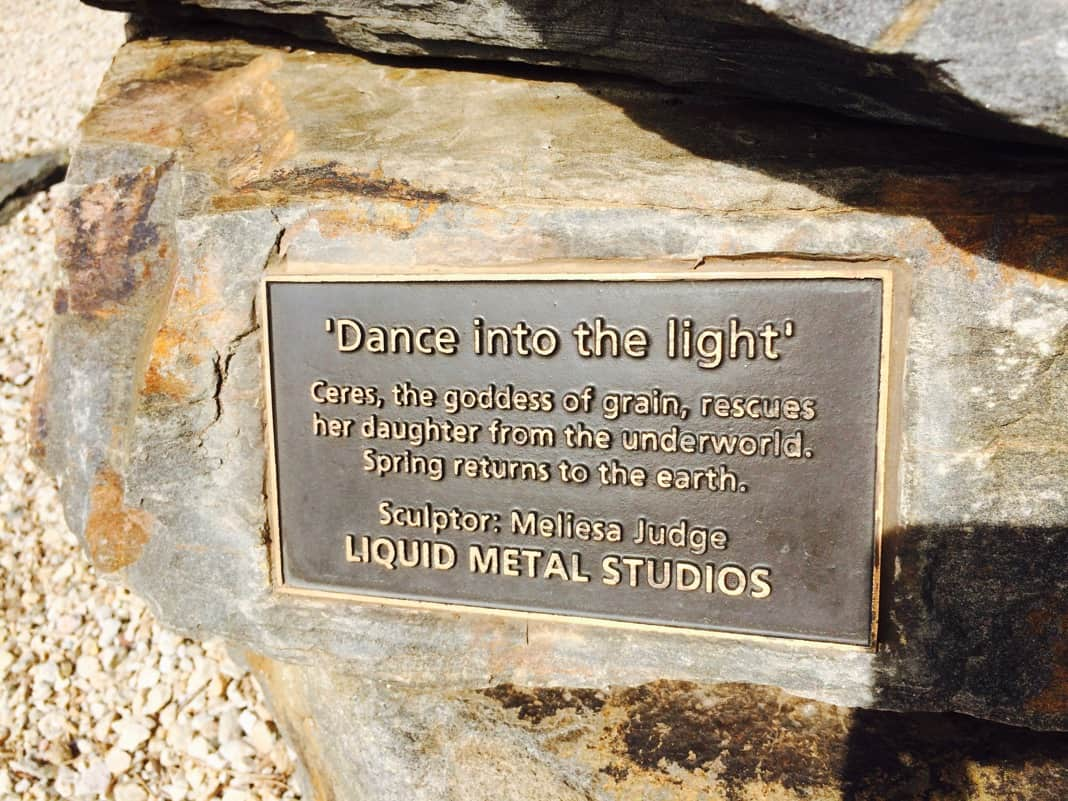 Dance into the light Ceres Plaque