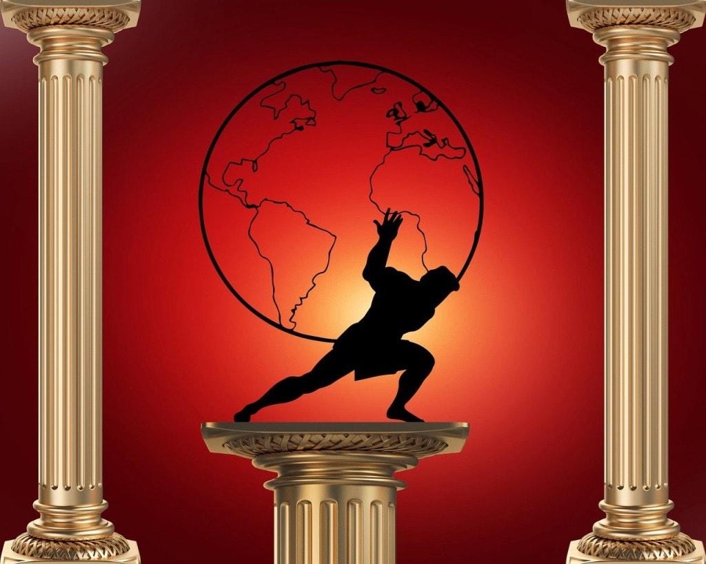Atlas holding up the world Greek Myth