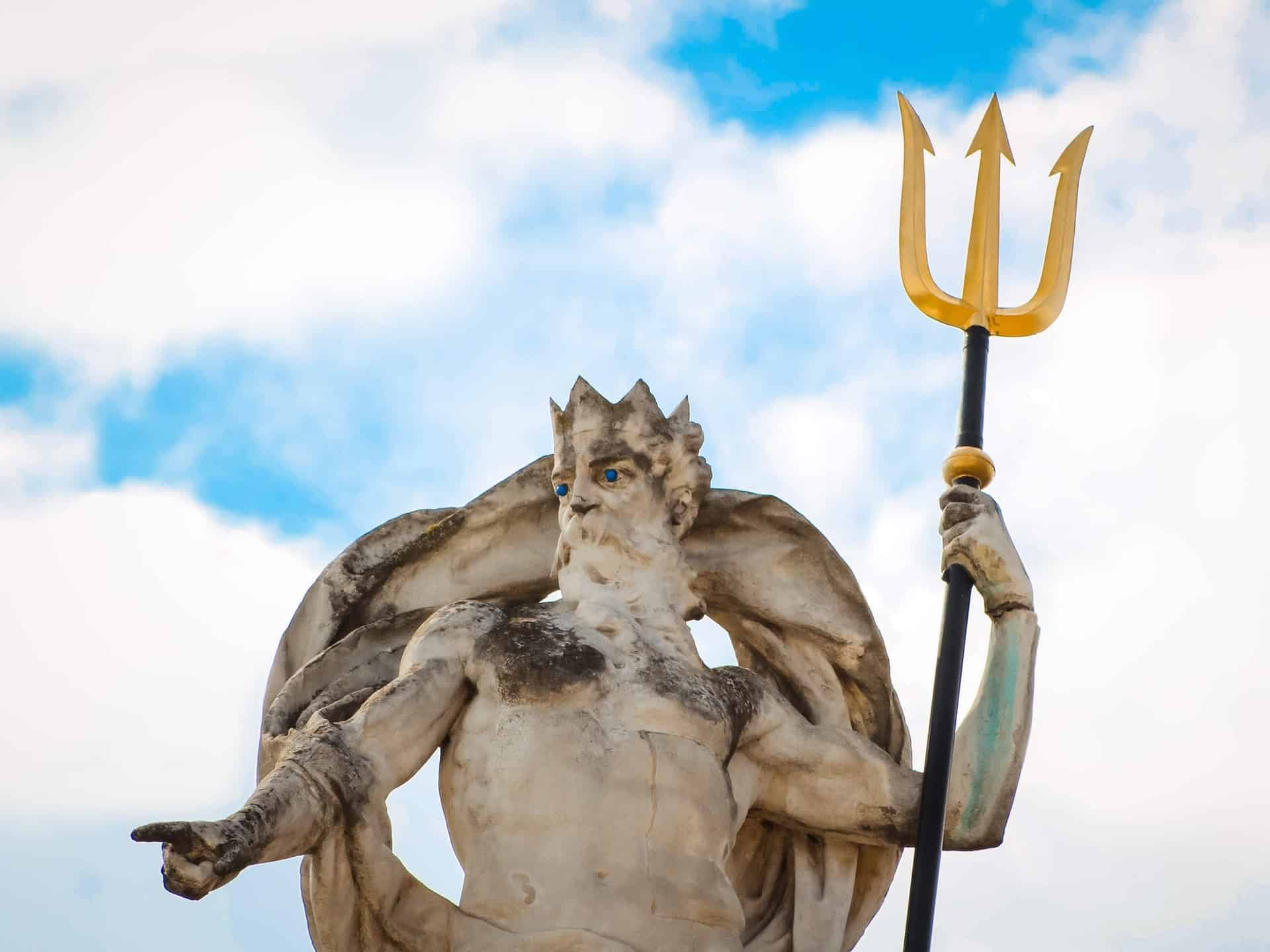 Neptune with trident statue