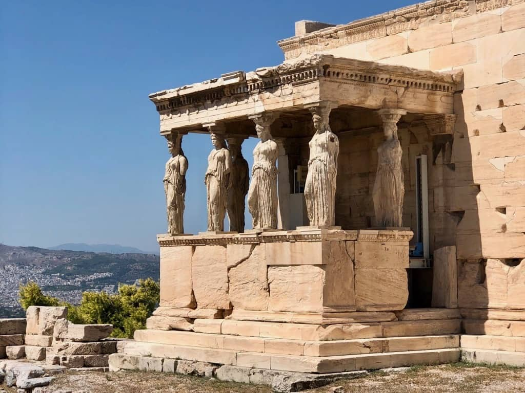 Old Temple of Athena in Athens Greece