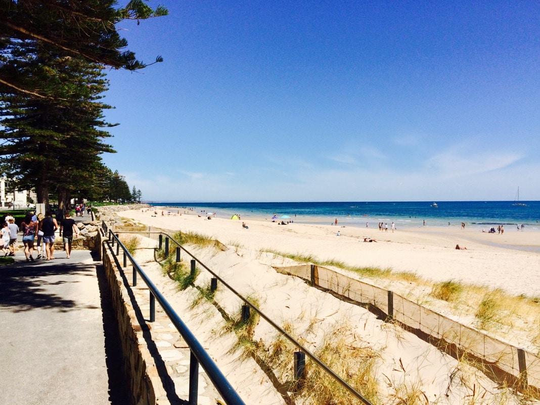 Glenelg Top Beach in Adelaide