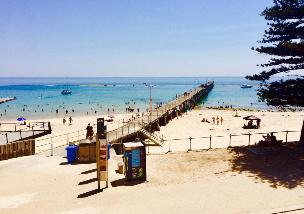 Port Noarlunga Beach in Adelaide