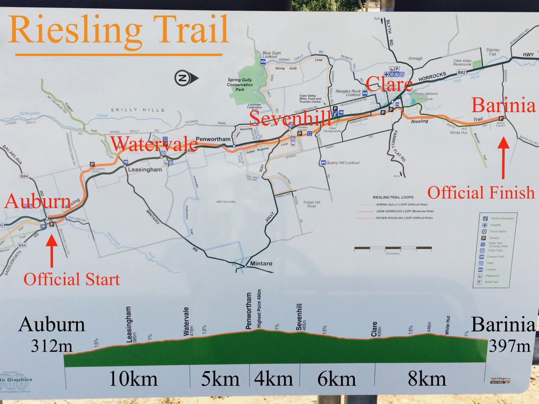Riesling Trail Map