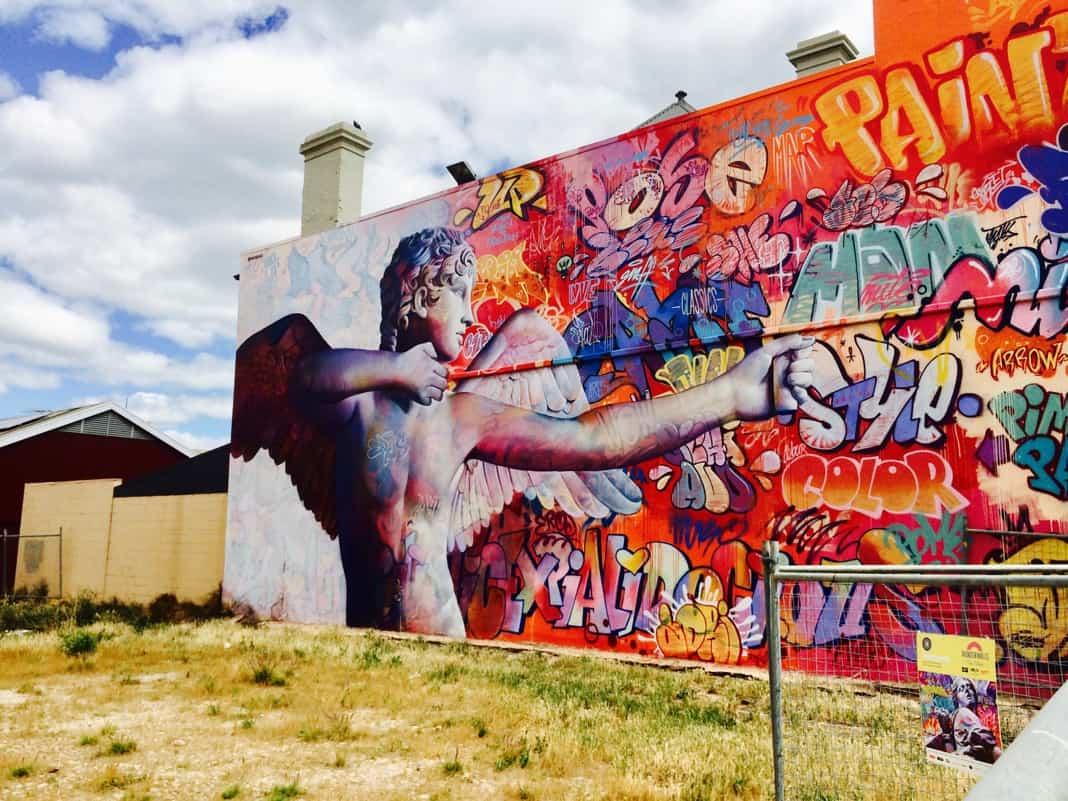 Eros Mural in Port Adelaide