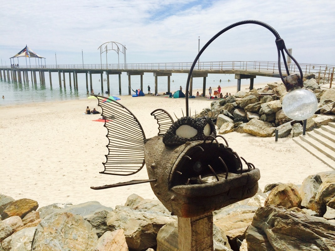 Fish with light at Brighton Jetty Classic Sculptures