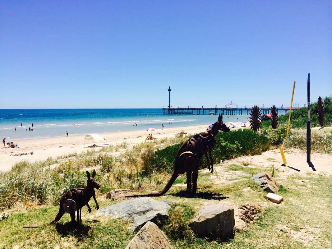 Kangaroo Sculptures at Brighton Jetty Sculptures