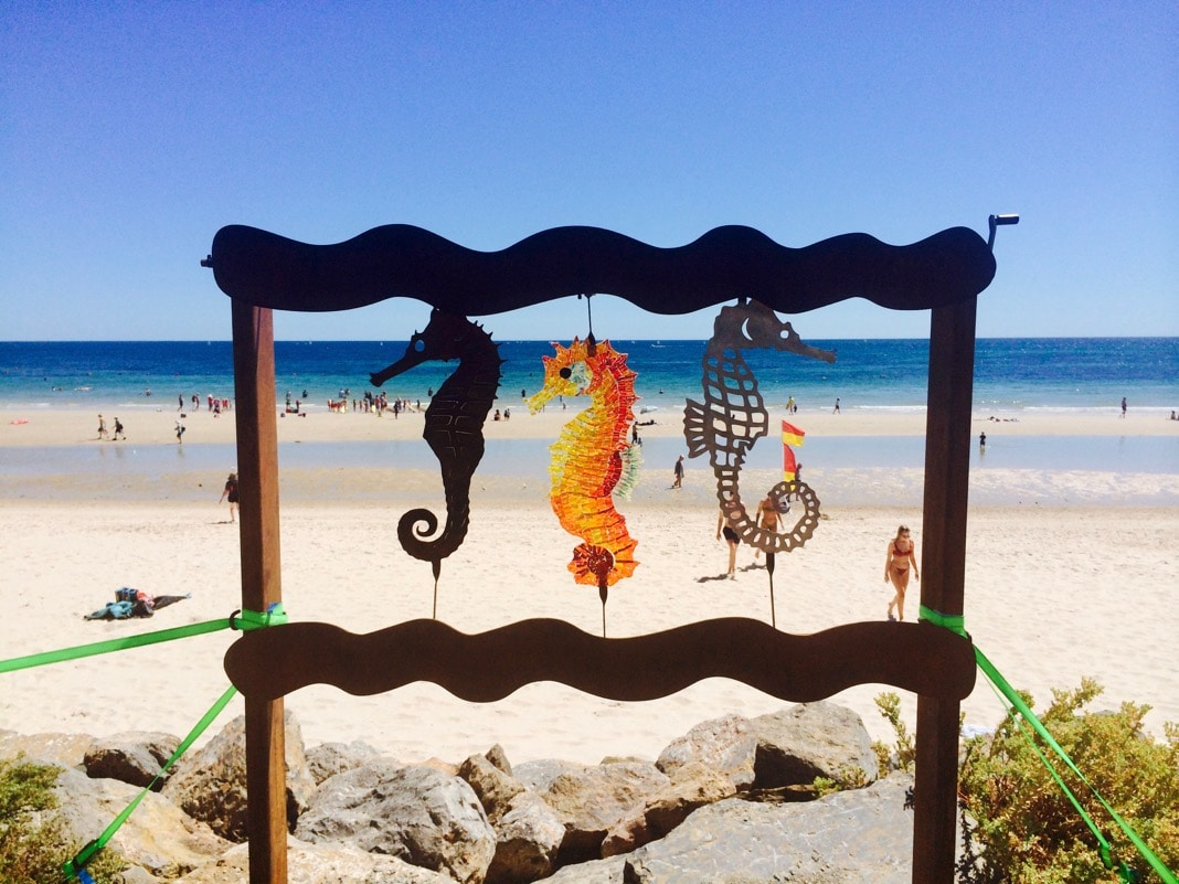Three Seahorses Art Piece Brighton Beach