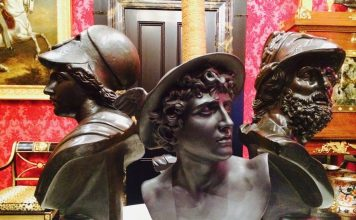Three busts of Greek Roman Gods in Adelaide Museum Gallery