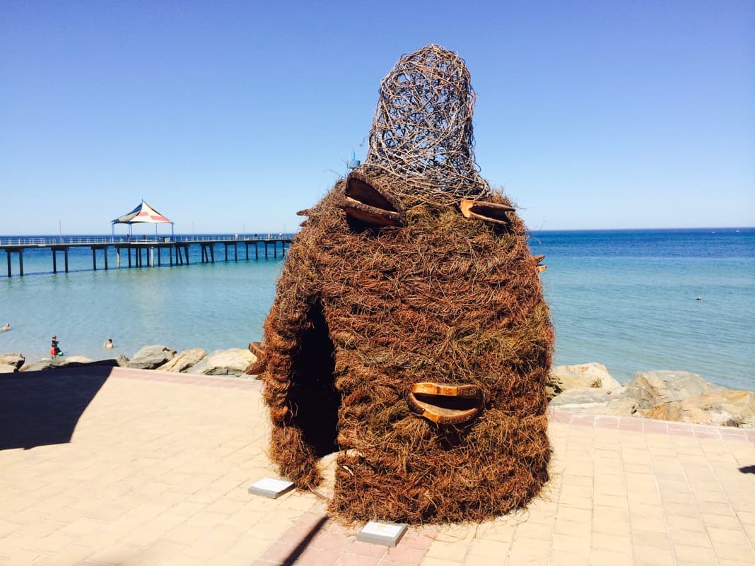 Wierd Sculpture at Brighton Jetty