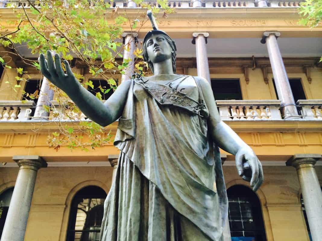 Athena Statue Barrack Street Sydney
