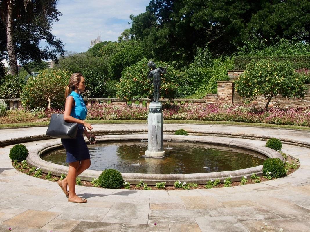 Cupid Fountain Sydney Royal Botanic Garden Love Led Them Statue