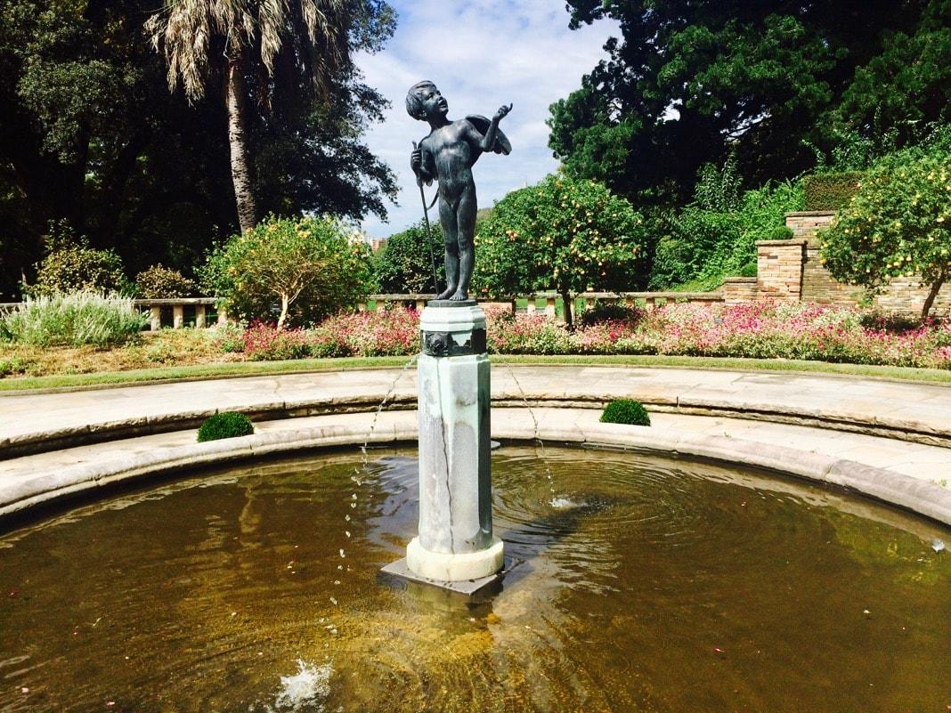 Love Led Them Cupid Statue Royal Botanic Gardens Sydney NSW